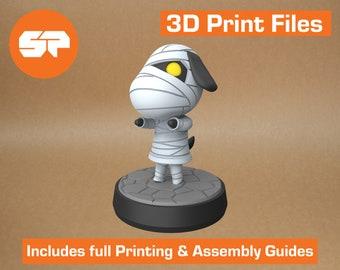 Animal Crossing Lucky 3D Model - STL file for 3d Printing -  3d Printable Animal Crossing New Horizons Figure