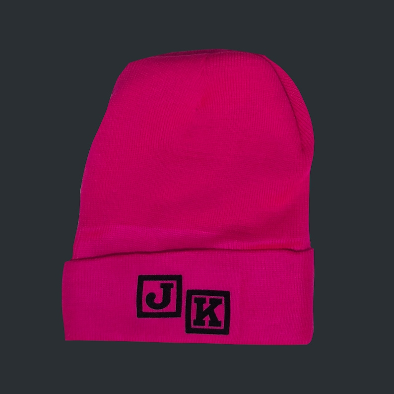 d238448d9cc Just Kiddin Hot Pink Winter Hat Beanie With Black Suede