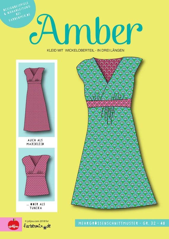 Farbenmix Schnittmuster Kleid Amber von Jolijou | Etsy