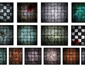 image about Dungeons and Dragons Tiles Printable known as Dungeon Etsy