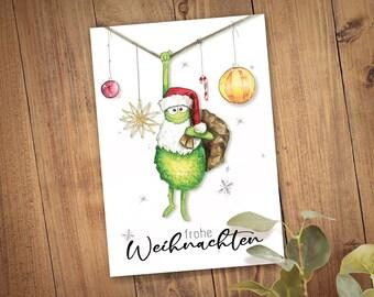 Christmas Monster Folding Card