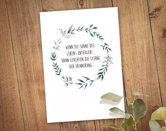 Funeral card folding card
