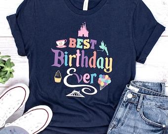 2a889015d39d Best Birthday Ever UNISEX SHIRT, Disney Birthday Shirt, Disney Shirt, Disneyland  Shirt, Colorful Disney Shirt, Birthday Shirt