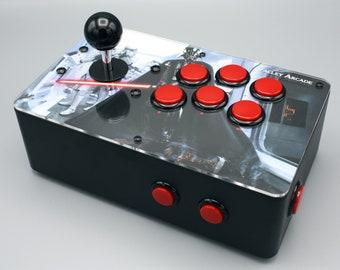 "Venture Retrocade II - home arcade console with genuine Sanwa controls (Star Wars ""Vader's Assault"" theme)"