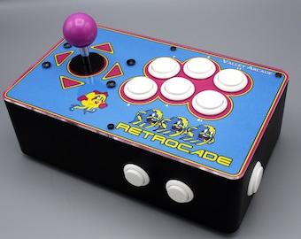 Venture Retrocade II - home arcade console with genuine Sanwa controls (Ms. Pac-Man theme)