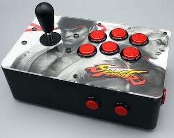 Venture Retrocade II - home arcade console with genuine Sanwa controls (Street Fighter theme)