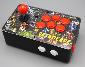 Venture Retrocade II - home arcade console with genuine Sanwa controls (Arcade Heroes & Villains theme)
