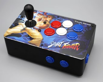 Venture Retrocade II - home arcade console with genuine Sanwa controls (Classic Street Fighter theme)
