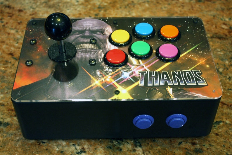 Venture Retrocade: a RetroPie home arcade console with genuine Sanwa  controls (Thanos Infinity Gauntlet Edition)