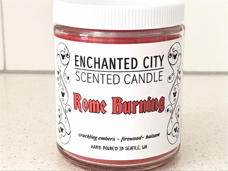 Rome Burning Candle  Disney Parks Scents  Soy Blend  Gift image 0