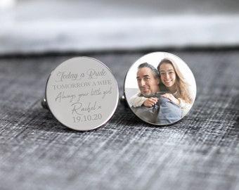 groom cufflinks custom wedding cufflinks custom any text personalized cufflinks gift photo Tomorrow a husband Cufflinks Today a Groom