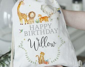 Personalised Birthday Gift Kids Birthday Present Gift Custom Birthday Bag Personalised Birthday Gift Bag Happy Birthday Gift Bag