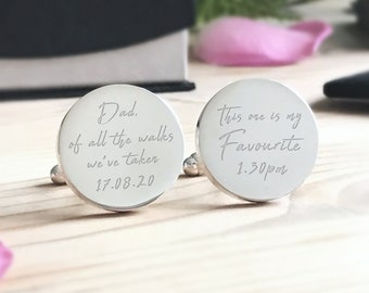 Personalised Engraved Dad of all the walks.. Rose Gold Wedding Cufflinks