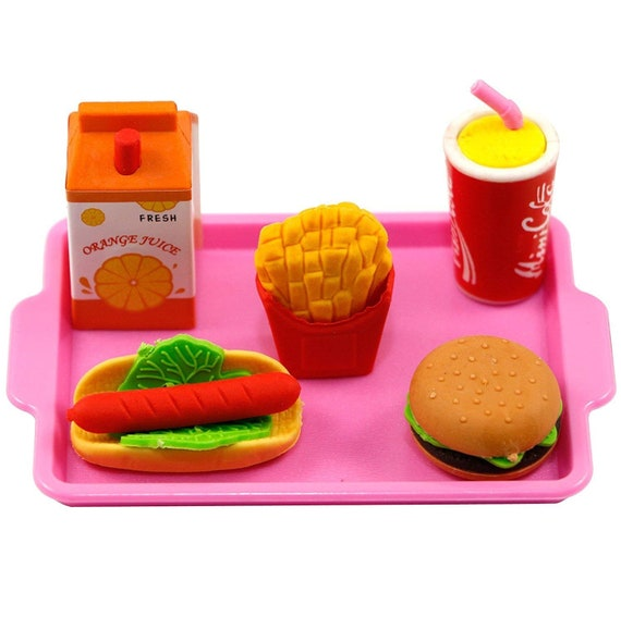 School Lunch Tray Hamburger,Shake,Fries 18 in Doll Food For American Girl