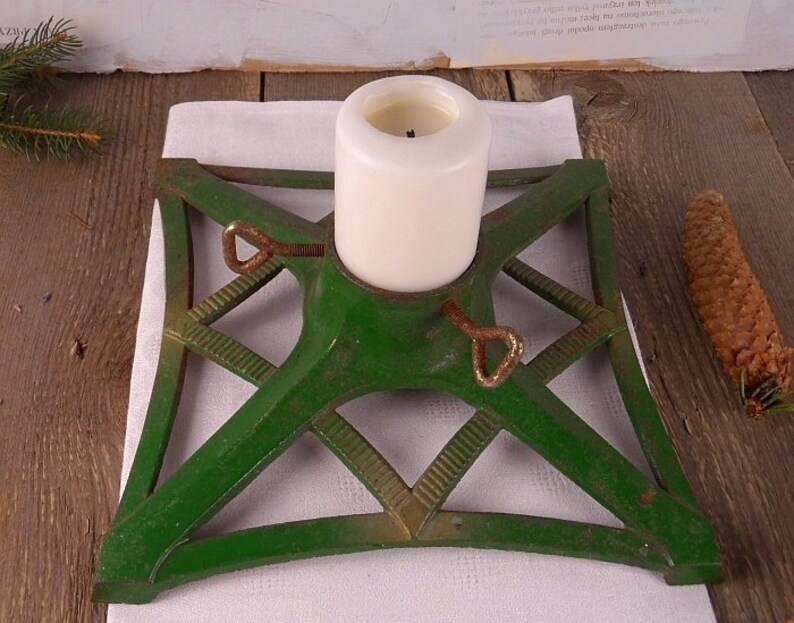 Old Stand Under The Christmas Tree Cast Iron Base Under The Etsy