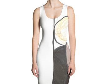 dbeed8e86d08de moderne print high fashion Cut   naai jurk