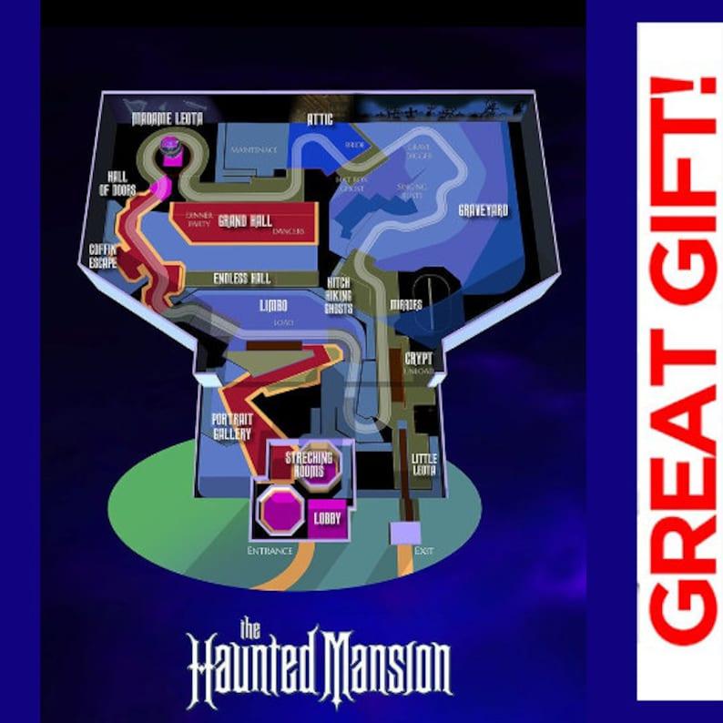 haunted mansion map