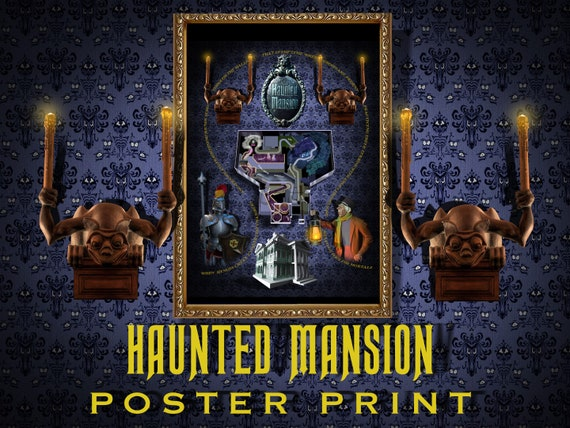 Haunted Mansion Attraction Poster New Walt Disney World Etsy