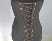 Classic Black Corset (28 quot ), Steampunk Clothing for Her, Renaissance Clothing for Her, Once Upon a Time Clothing, FairyTale Clothing for Her