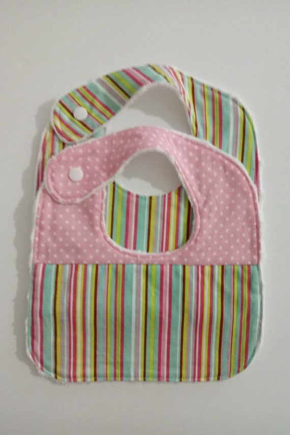 Baby Shower Gift Pink Baby Bibs BibsBaby Girl Baby Shower Baby Bib Girl Unisex Pink Floral Baby Gift Flowers Bib Set Baby Boy