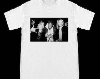 dc5c3271c Chris Farley Kurt Cobain 2pac Tupac Hanging Out T-Shirt