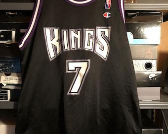 81835014c7c Vintage Champion Bobby Hurley Sacramento Kings Black NBA Jersey Duke Size  44 L