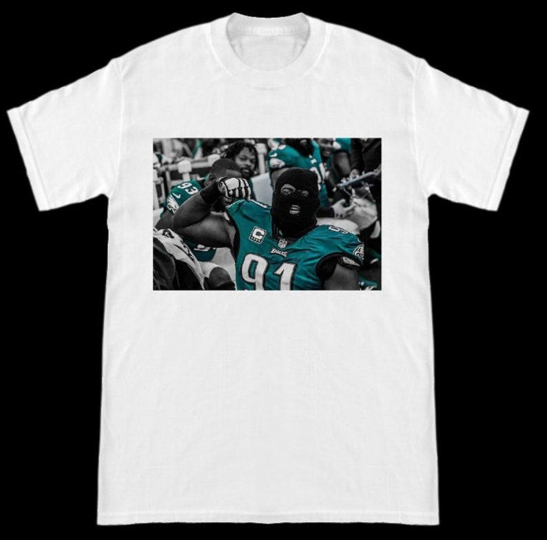 size 40 75544 210a6 Philadelphia Eagles Fletcher Cox Ski Mask Season T-Shirt