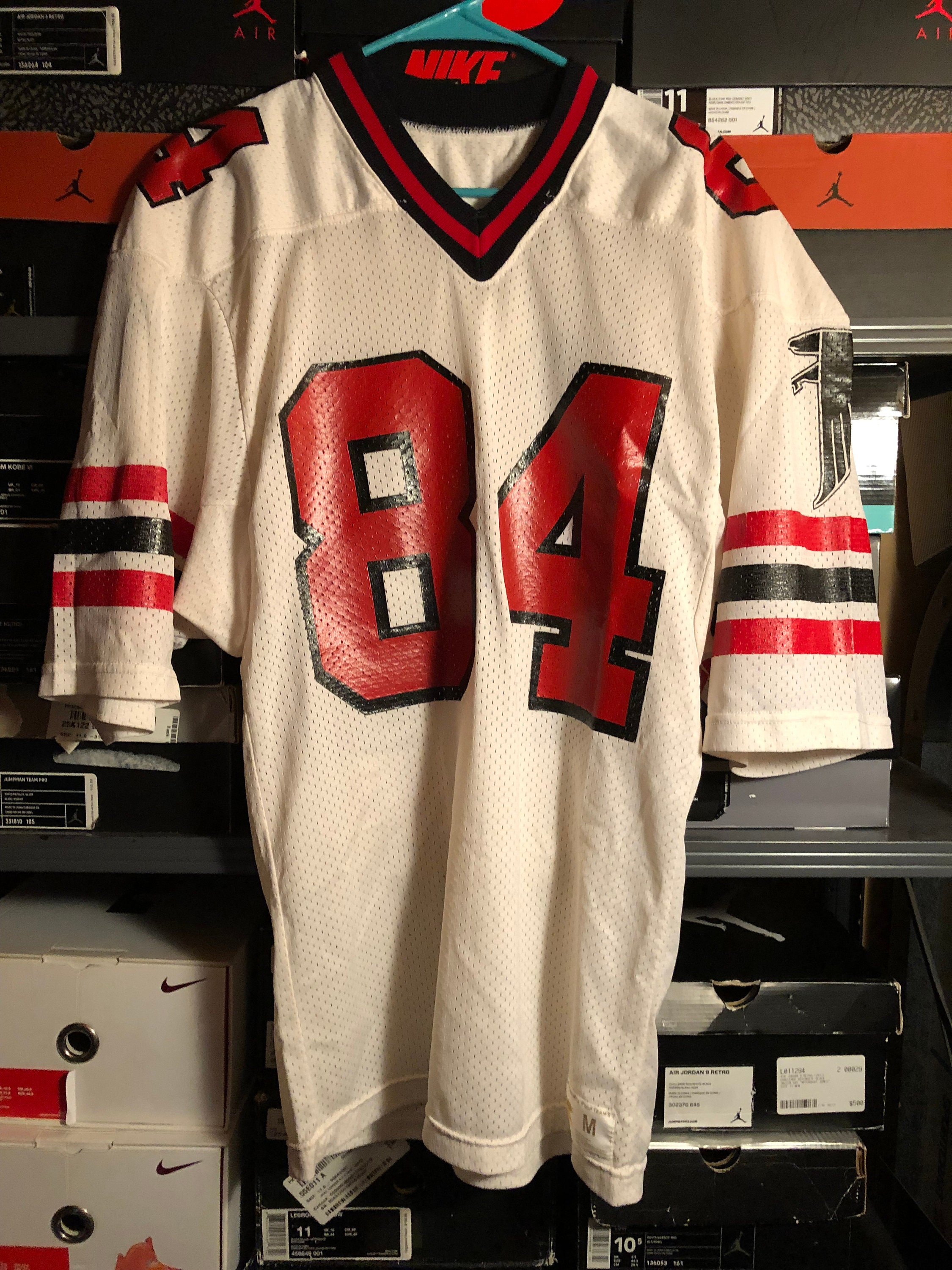 finest selection 47f04 9d55b Vintage Russell Athletic x Mitchell & Ness Atlanta Falcons #84 White Jersey  M