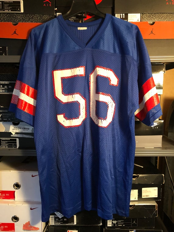 official photos 2fd0d 94aac Vintage Lawrence Taylor LT #56 NY New York Giants Blue Jersey L/XL