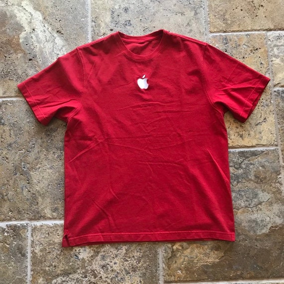 Vintage 90s Apple Embroidered Logo T-Shirt