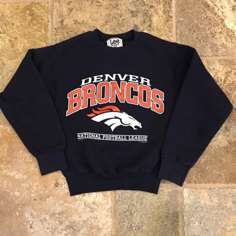 online store 3b984 6ac11 Vintage 1998 Denver Broncos crew neck pullover sweatshirt