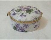 Purple Daisy Trinket Box