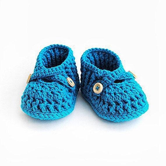 Bébé bleu mocassins tricot chaussons au Crochet bébé Chaussures bébé bleu sandales maternité grossesse cadeau nouvelle maman cadeau bébé douche cadeau nouveau-né