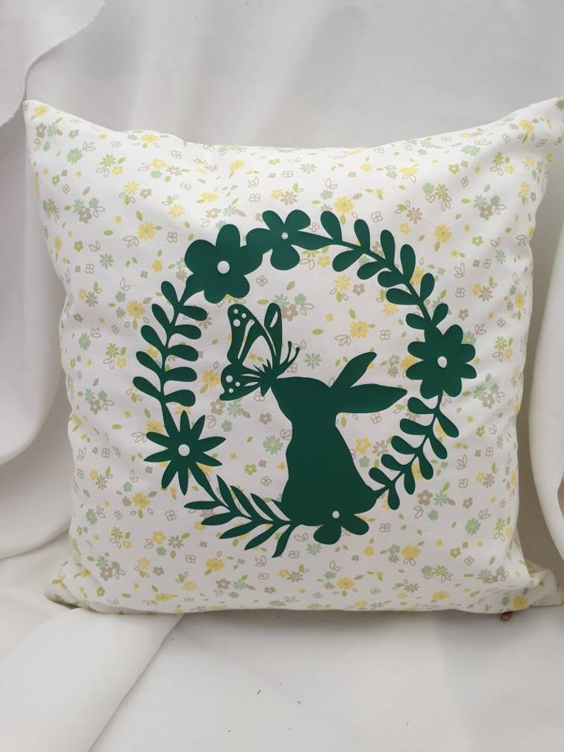 Case Shabby Chic Country.Pillow Case Shabby Chic Country House Vintage Bunny Green Yellow Mother S Day Gift With Zip 40 X40 Cm