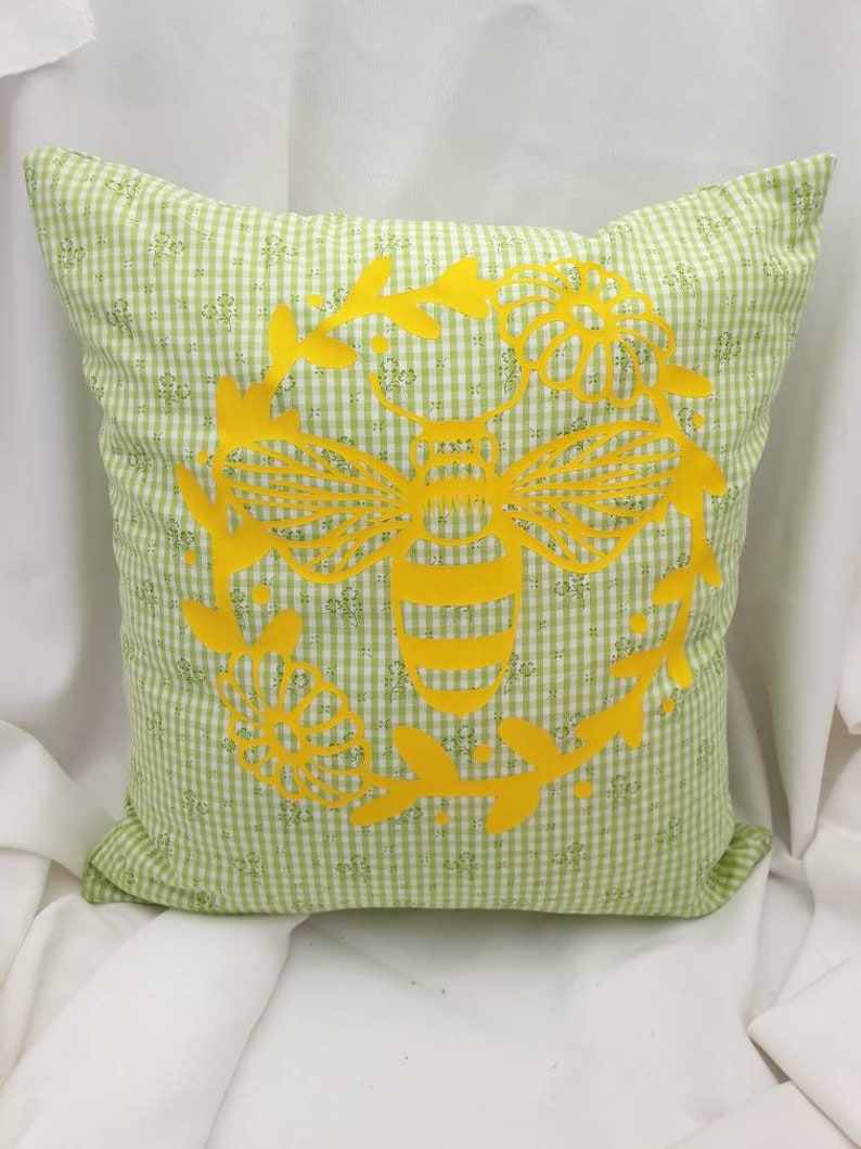 Case Shabby Chic Country.Pillow Case Shabby Chic Country House Green Save The Bees Deocissen Mother S Day Gift With Zip 40 X40 Cm