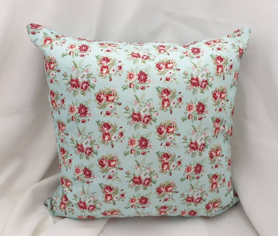 Case Shabby Chic Country.Pillow Case Shabby Chic Country House Turquoise Floral Decocits Mother S Day Gift With Zip 40 X40 Cm