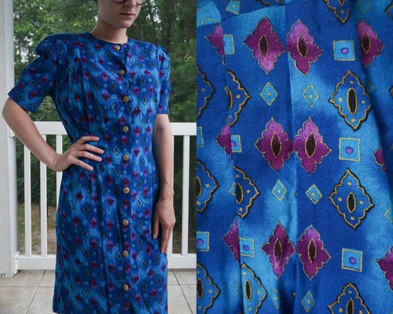 Blue/Purple 80s Day Dress