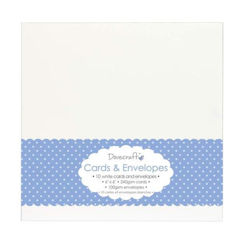 10 folding cards envelopes white 160 x 160 mm white