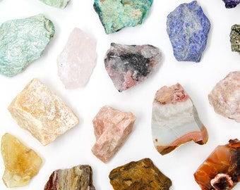 Create Your Own Crystal Set | Raw Crystal Collection + Crystal Description Cards