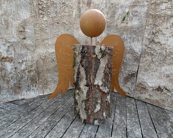 DIY angel to make yourself, head and wings, XL, metal rust angel wings