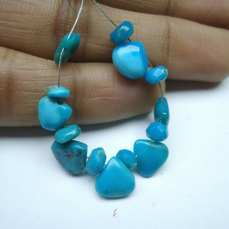 -Turquoise Beads...b452 4.5-5.5mm Christmas Sale Natural Turquoise-Faceted Rondelle -Smooth Plain Heart Shape 6.50-8mm