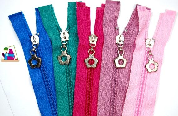 Pink 10 Schieber//Zipper 27 Farben Spirale 5mm 5m Rei/ßverschluss endlos Meterware