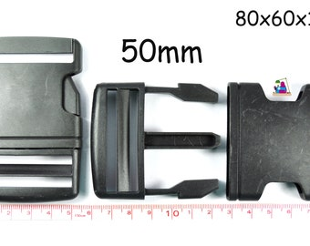1h. Buckle Click Closure 50 mm black for Webbing Bag Backpack Suitcase Buckle sew sewing Haberdashery Sewing Accessories