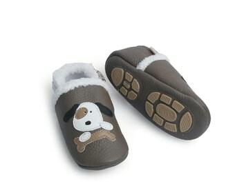 d085aea829eadc Liya s winter slippers leather slippers 374 Blau Eisbär