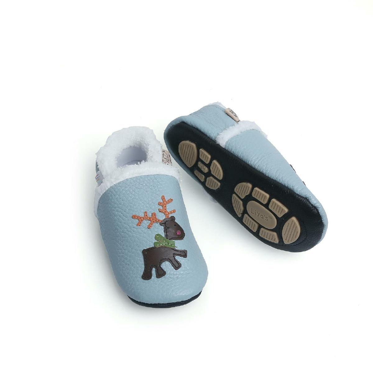 4e4b1dc41eeac3 Liya s winter slippers leather slippers 372 Moose