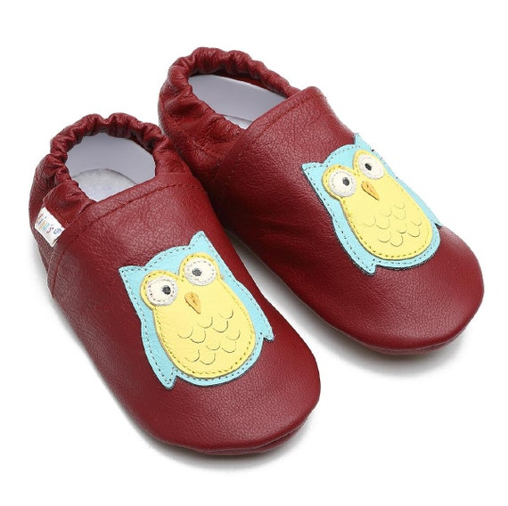 ed1a5caa860217 Liya s slippers leather slippers with rubber sole638 owl
