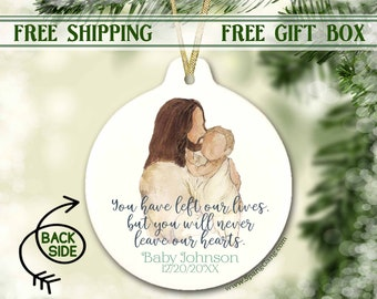 Personalized Miscarriage Baby Memorial Ornament   Miscarriage Keepsake   Sympathy Gift   Remembrance Keepsake   Pregnancy Infant Loss Gift