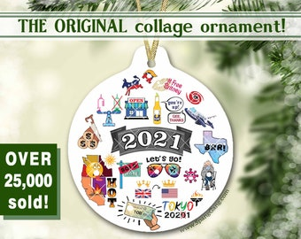 2021 Christmas Ornament | the ORIGINAL PANDEMIC COLLAGE ornament | 2021 Keepsake Christmas Decoration | 2021 Memory Ornament | Coronavirus