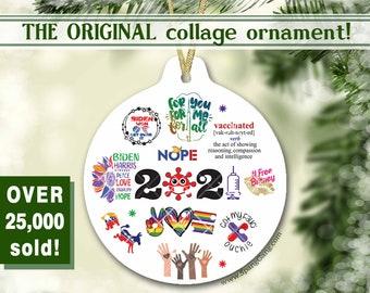 2021 Quarantine Christmas Ornament | COVID Christmas Ornament | Funny Keepsake Gift | Pandemic Ornament | 2021 Memories | Gift for Him Her