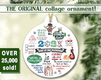 2021 Christmas Ornament | THE ORIGINAL Pandemic Ornament | Christmas Decoration | Snowflake Ornament | Trump 2024 | Offended Karen Keepsake